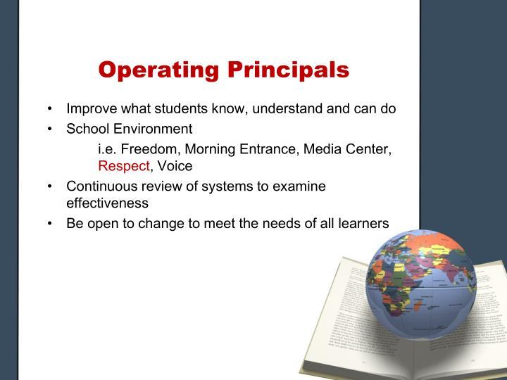 Operating Principals