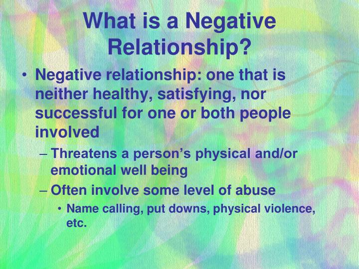 What is a negative relationship