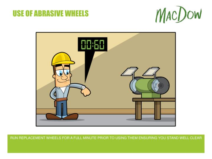 Use of abrasive wheels