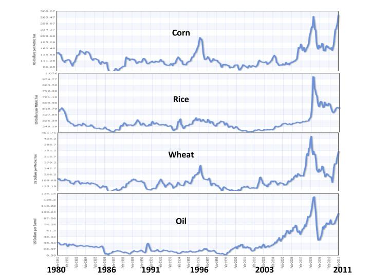 Food and Oil  Commodity Prices