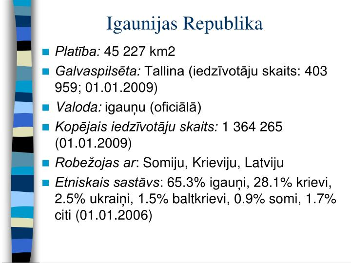 Igaunijas Republika