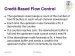 credit based flow control
