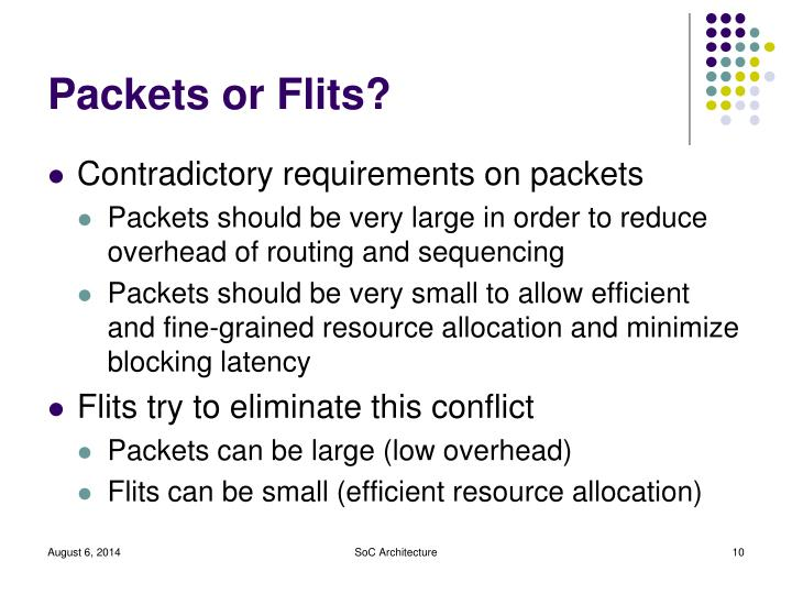 Packets or Flits?
