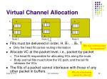virtual channel allocation