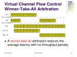 virtual channel flow control winner take all arbitration