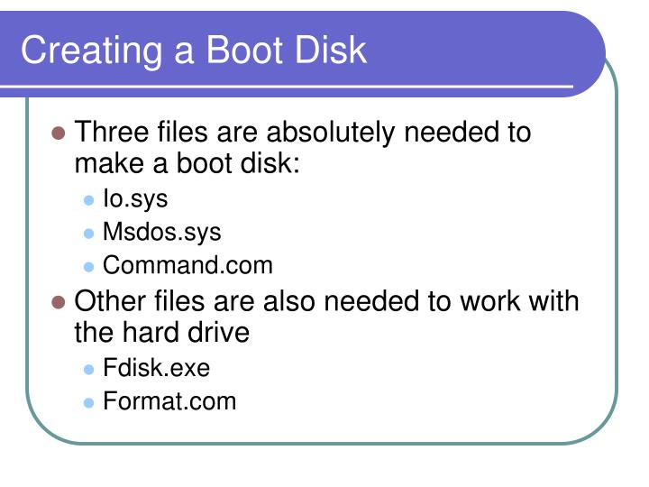 Creating a Boot Disk