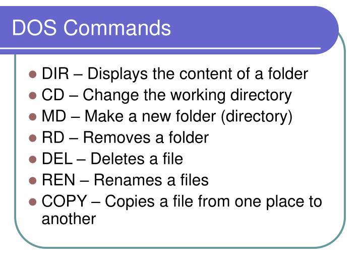 DOS Commands