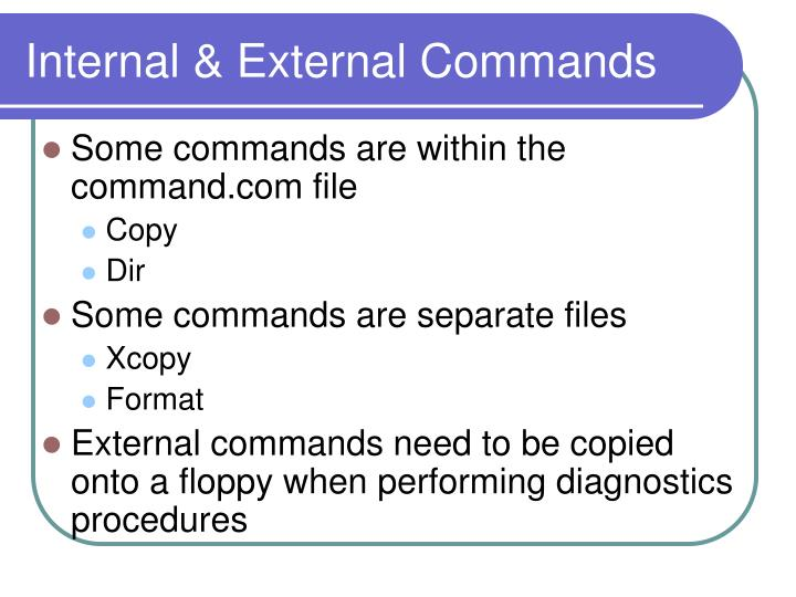Internal & External Commands