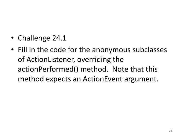 Challenge 24.1