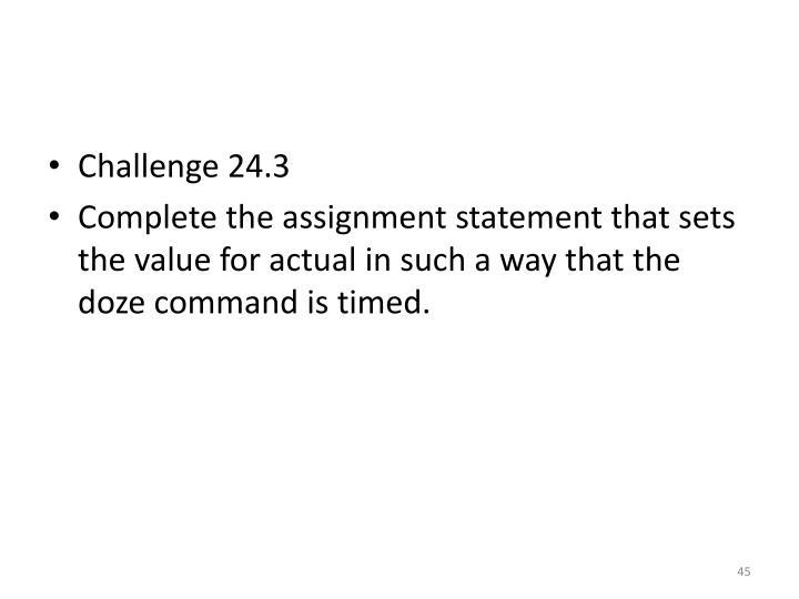 Challenge 24.3