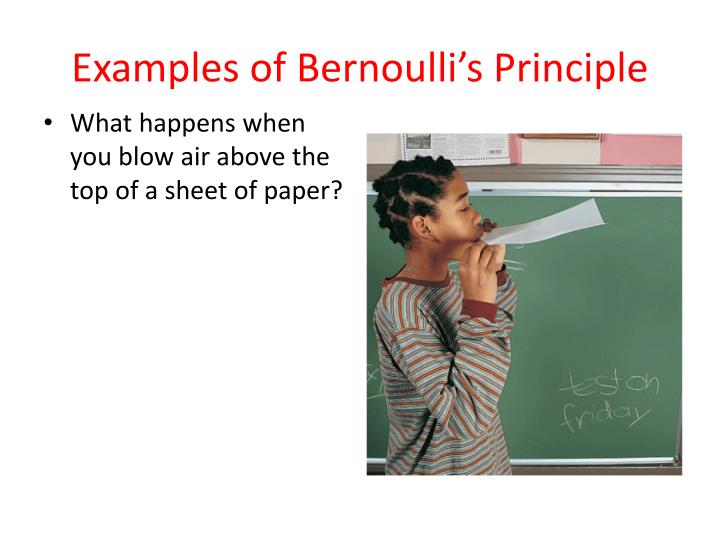 bernoulli principle essay More essay examples on biology rubric bernoulli's principle considers the relationship between the pressure, velocity and elevation in a moving fluid, the compressibility and viscosity of which are negligible and the flow of which is steady or laminar.