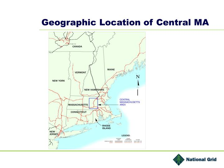 Geographic location of central ma