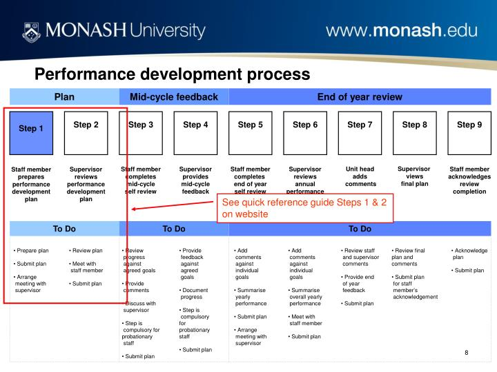 Performance development process