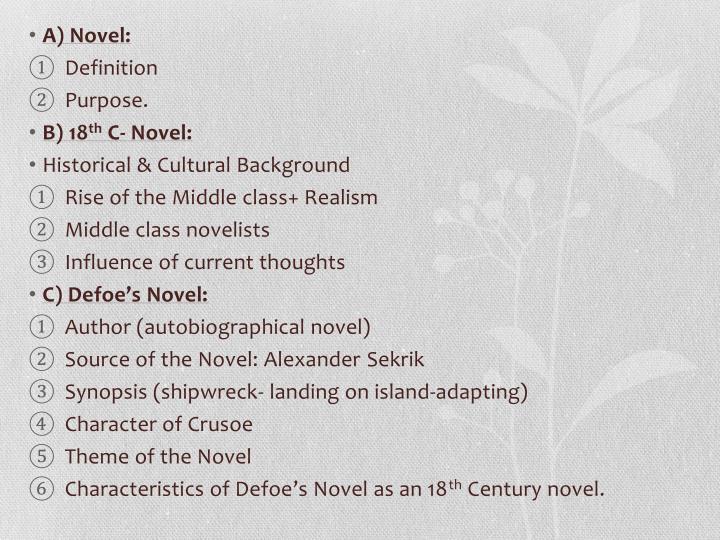 A) Novel: