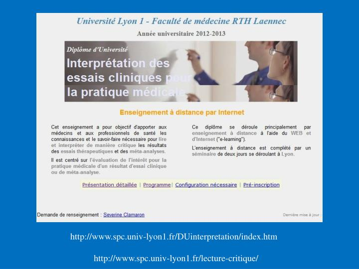 http://www.spc.univ-lyon1.fr/DUinterpretation/index.htm