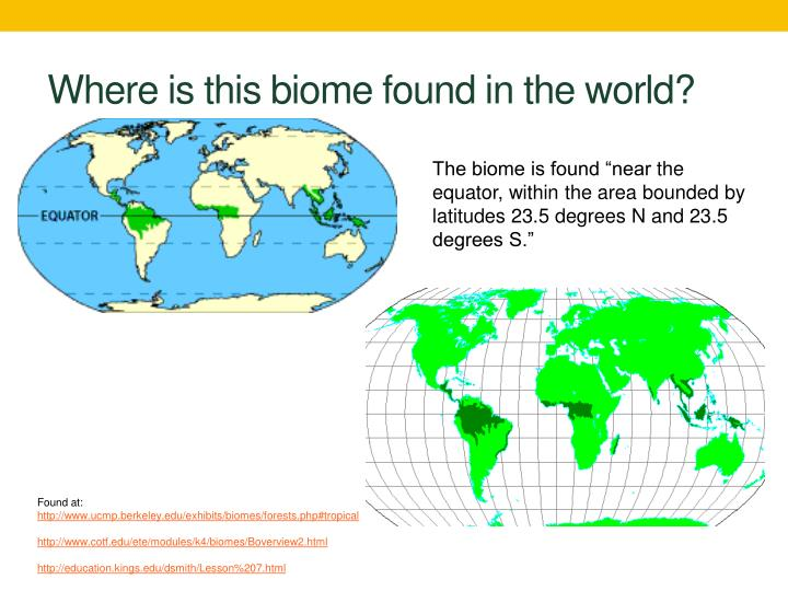 Where is this biome found in the world