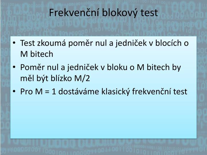 Frekvenční blokový test