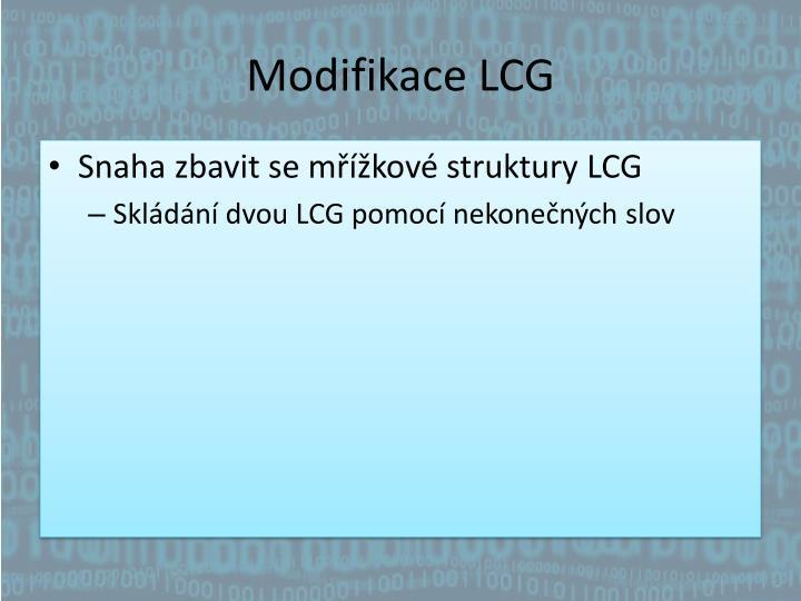 Modifikace LCG