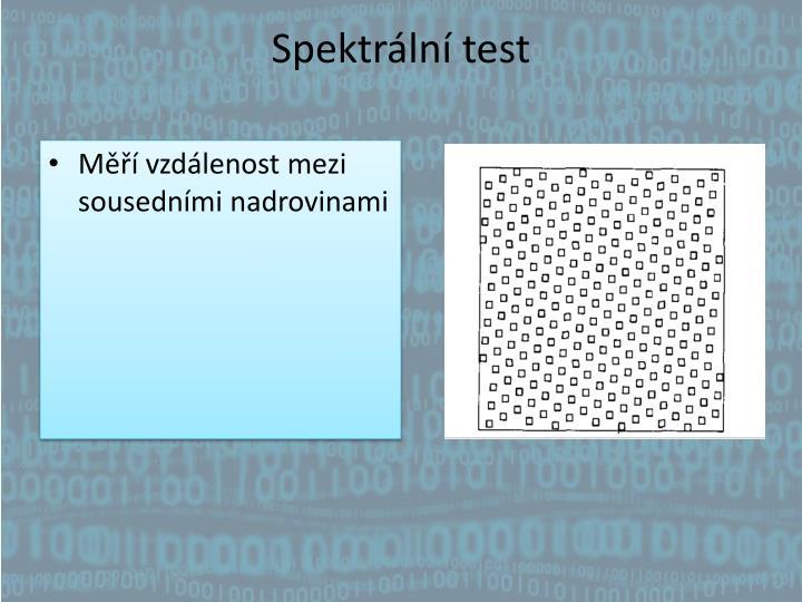 Spektrální test
