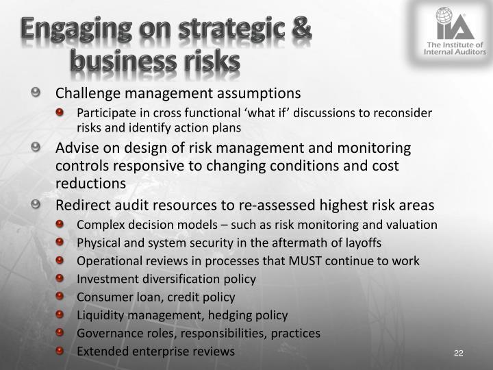 Engaging on strategic &