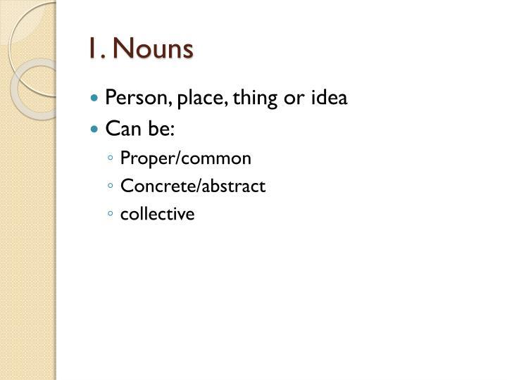 1. Nouns