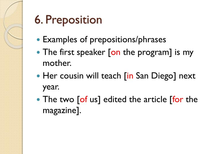 6. Preposition