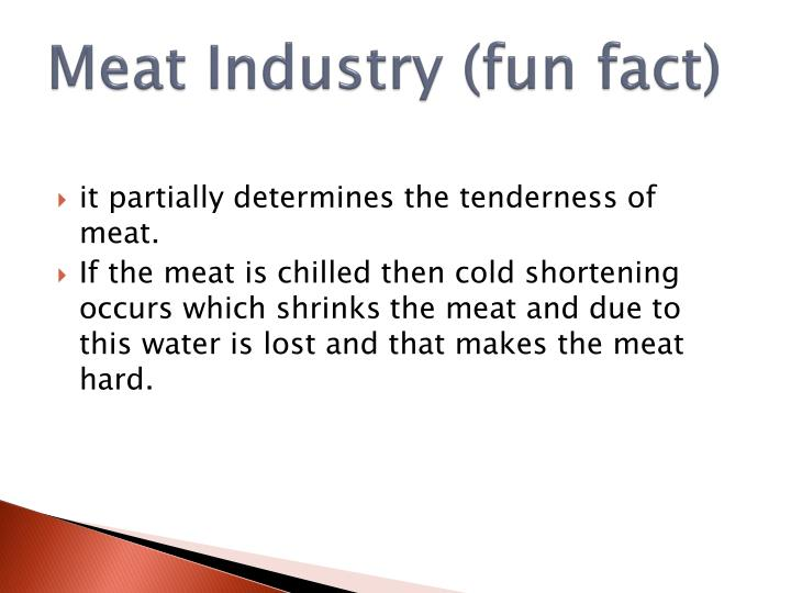 Meat Industry (fun fact)