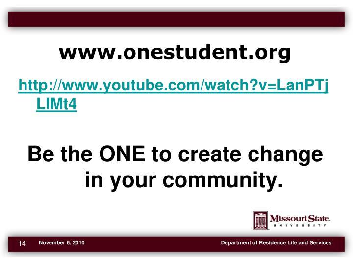 www.onestudent.org