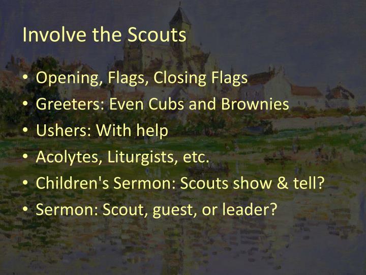 Involve the Scouts