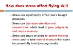 how does stress affect flying skill