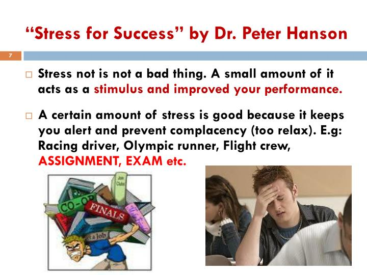 """Stress for Success"" by Dr. Peter Hanson"
