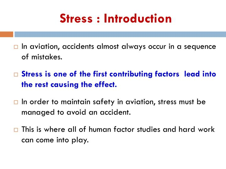 Stress introduction