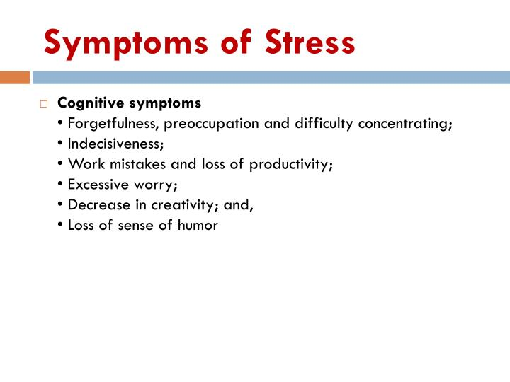 Symptoms of Stress