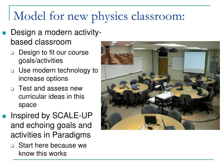 Model for new physics classroom: