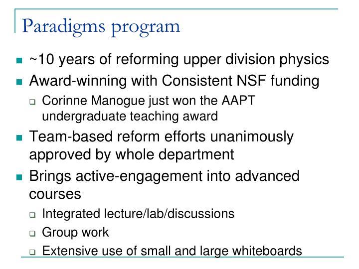 Paradigms program