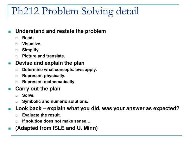 Ph212 Problem Solving detail