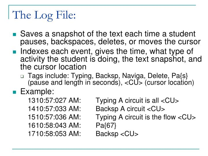 The Log File: