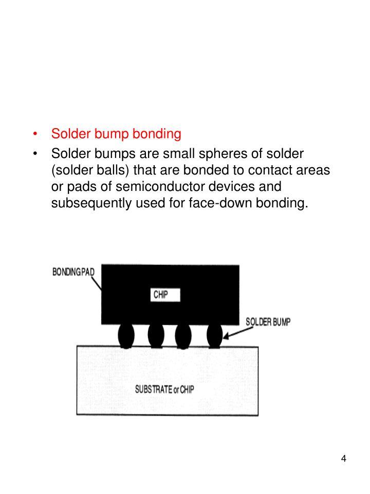 Solder bump bonding