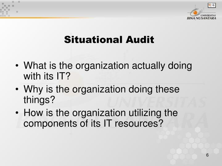 Situational Audit