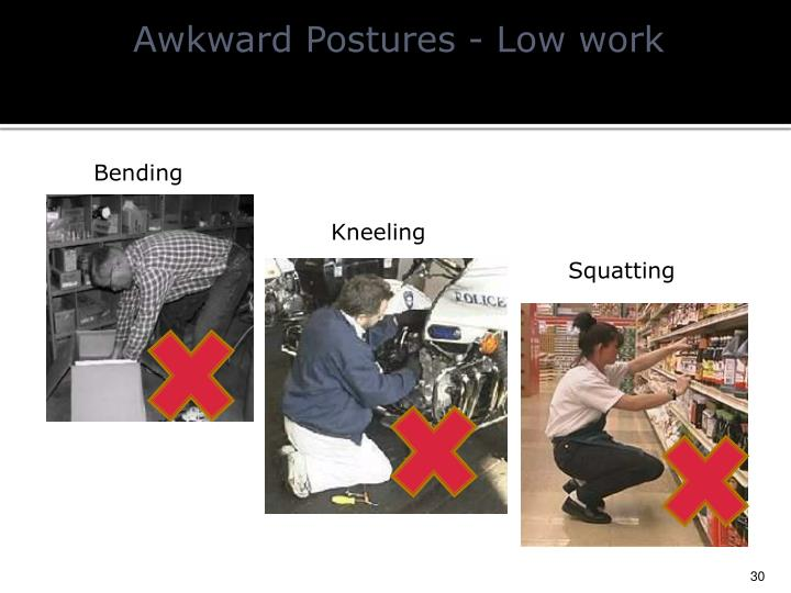 Awkward Postures - Low work