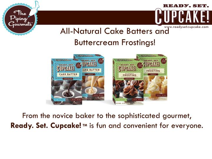 All-Natural Cake Batters and