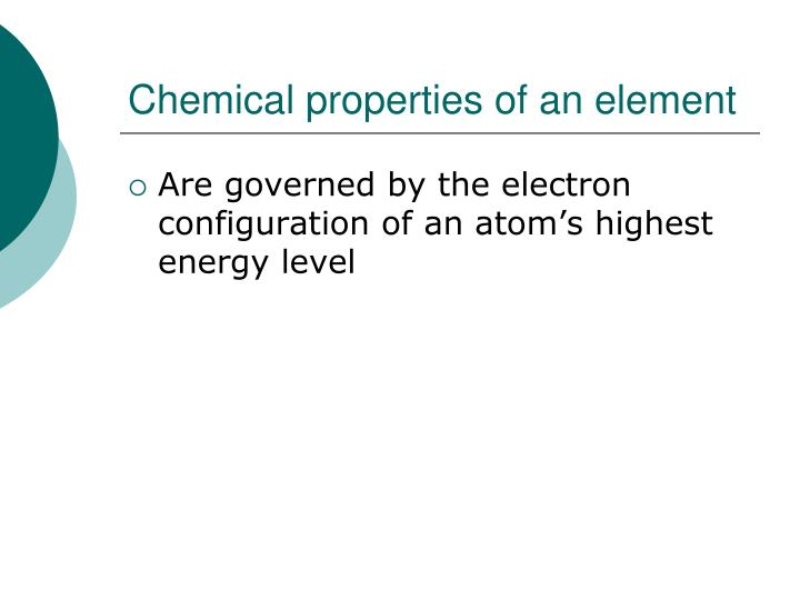 Chemical properties of an element