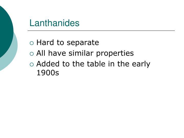Lanthanides