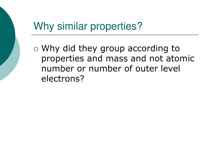 Why similar properties?