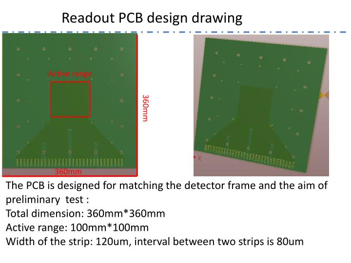 Readout PCB design drawing