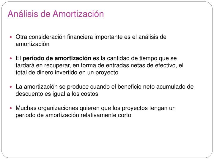 Análisis de Amortización