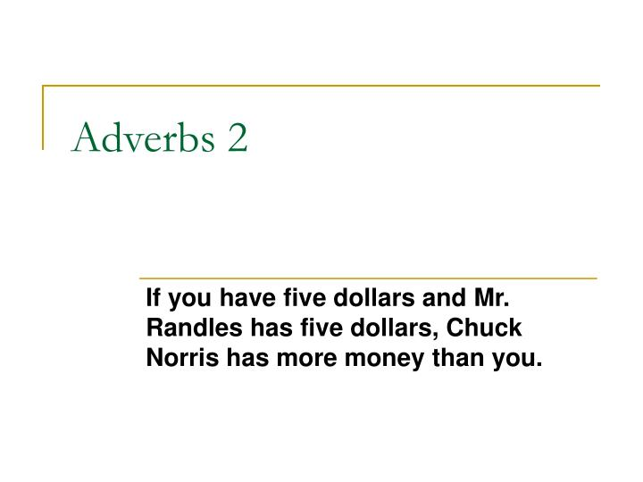 adverbs 2