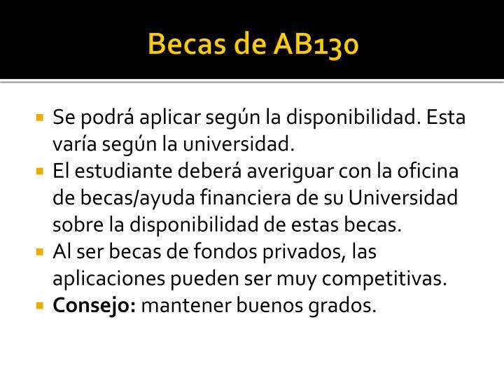 Becas de AB130
