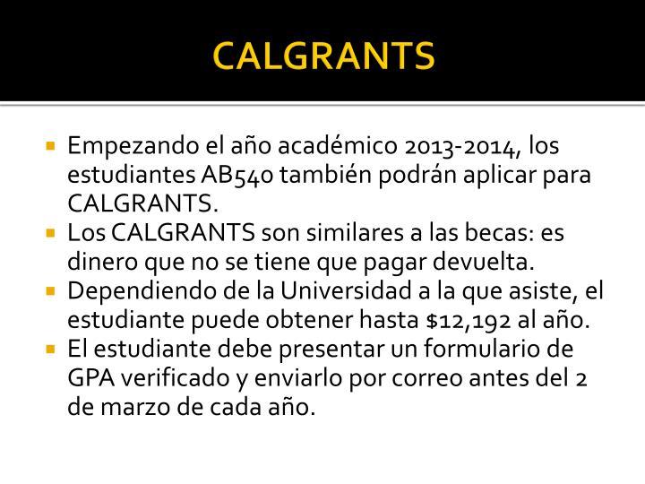 CALGRANTS