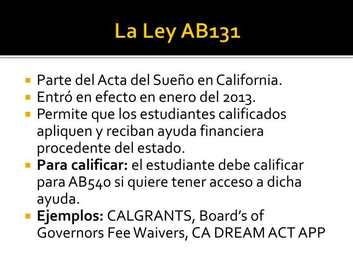 La Ley AB131